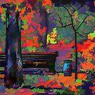 Park in the Fall by Oleg Atbashian