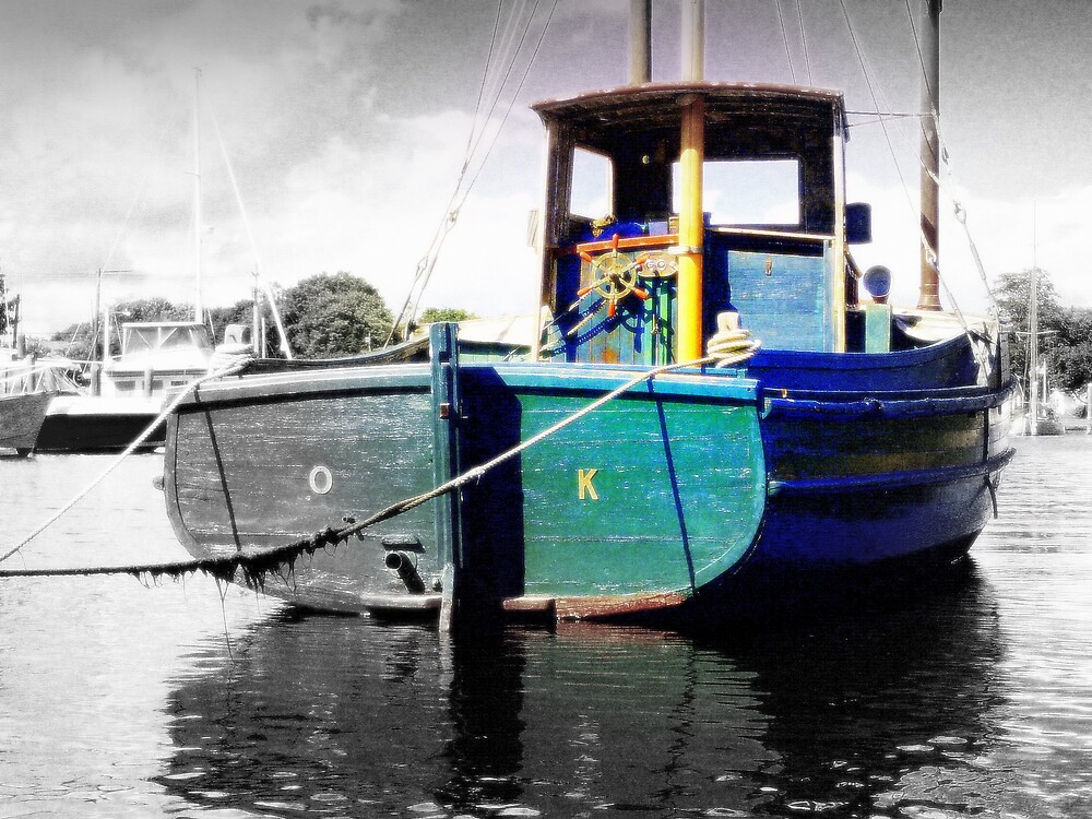 O.K. Popeye Boat At Wickfor Harbor by rtographsbyrolf