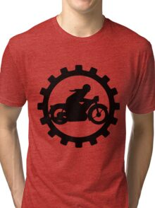 Vintage Motorcycle decal..... Tri-blend T-Shirt