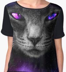 Space Cat (Blue/Purple) | Digital Art  Chiffon Top