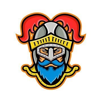 Knight Head Front Mascot by patrimonio