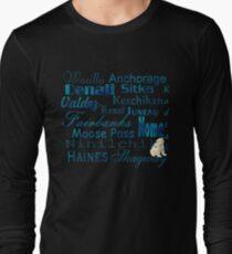Famous Cities of Alaska T-Shirt Long Sleeve T-Shirt