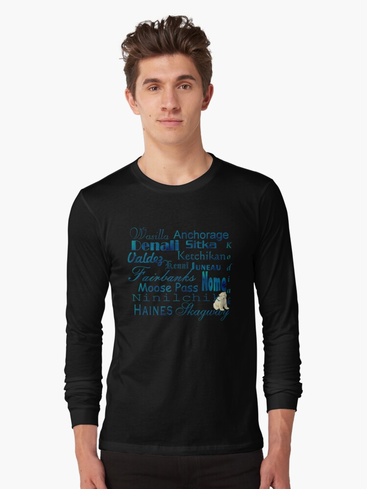 Famous Cities of Alaska T-Shirt by Lisa  Weber