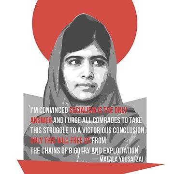 Malala Yousafzai, feminist socialist revolutionary by KosmonautLaika