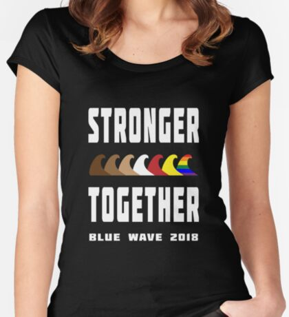 Stronger Together Blue Wave 2018 Women's Fitted Scoop T-Shirt