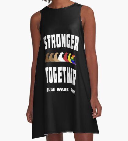 Stronger Together Blue Wave 2018 A-Line Dress