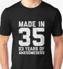 83rd Birthday Gift Adult Age 83 Year Old Men Women Unisex T Shirt