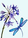Nature's Gift's - Dragonfly and Flower by Linda Callaghan