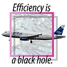 Efficiency is a black hole. by Actual Violence
