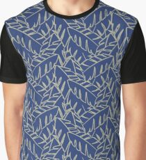 Into The Palms - Blue and Tan Graphic T-Shirt