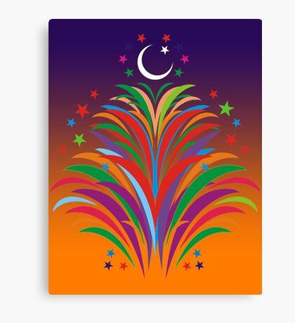Id Festival Fireworks Canvas Print