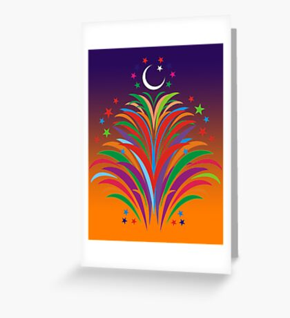 Id Festival Fireworks Greeting Card