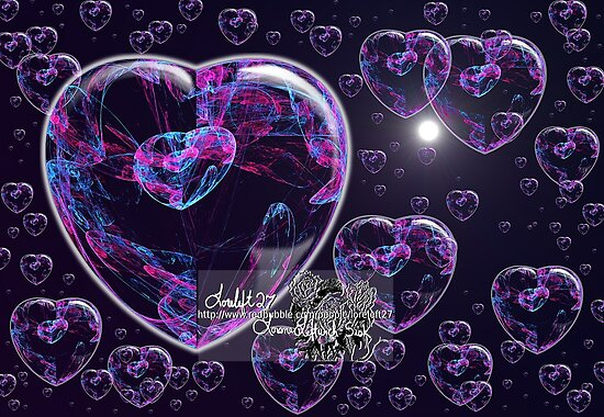 crystal heart bubbles by LoreLeft27