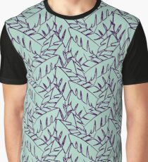 Into The Palms - Purple and Mint Graphic T-Shirt