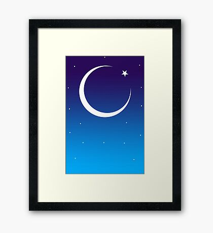 Id Moon Framed Print