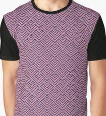 Deco Diamonds - Pink and Purple  Graphic T-Shirt