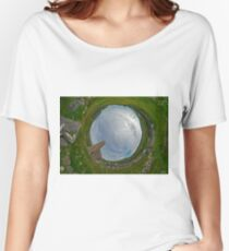 Glencolmcille Church - Sky In Women's Relaxed Fit T-Shirt