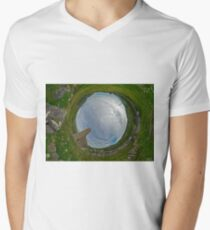 Glencolmcille Church - Sky In Men's V-Neck T-Shirt