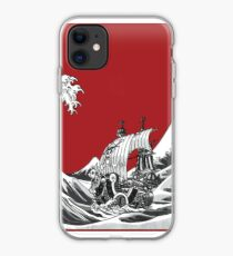 RED The Great Wave  iPhone Case