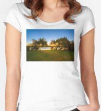 Golden Lake, Yanchep National Park Women's Fitted Scoop T-Shirt