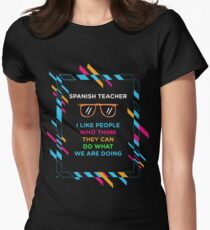 SPANISH TEACHER Women's Fitted T-Shirt