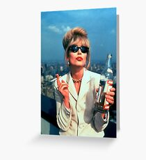 Joanna Lumley 2 Greeting Card