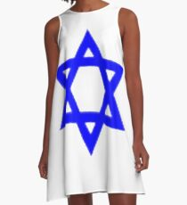 Star of David, ✡, Shield of David, Magen David, symbol, Jewish identity, Judaism, #StarofDavid, #✡, #ShieldofDavid, #MagenDavid, #symbol, #Jewishidentity, #Judaism, #Jewish A-Line Dress