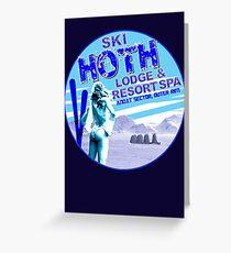 Hoth Lodge Greeting Card
