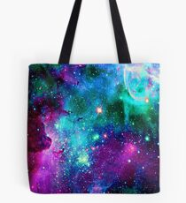 Purple teal nebula  Tote Bag