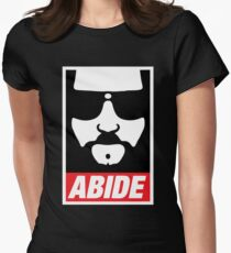 The Dude Abides Abide Women's Fitted T-Shirt