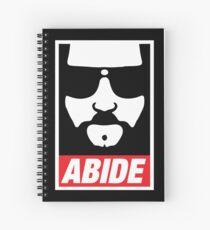The Dude Abides Abide Spiral Notebook