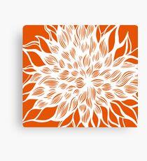 flower (orange) Canvas Print