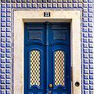 Blue Door In Lisbon Souvenir by for91days