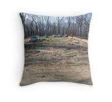 bushfire carpark Throw Pillow