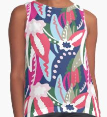 From The Tropics - Pink, Red, Blue and Tan Contrast Tank