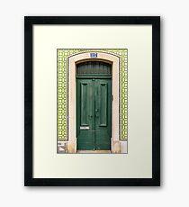 Green Door Lisbon Souvenirs Framed Print