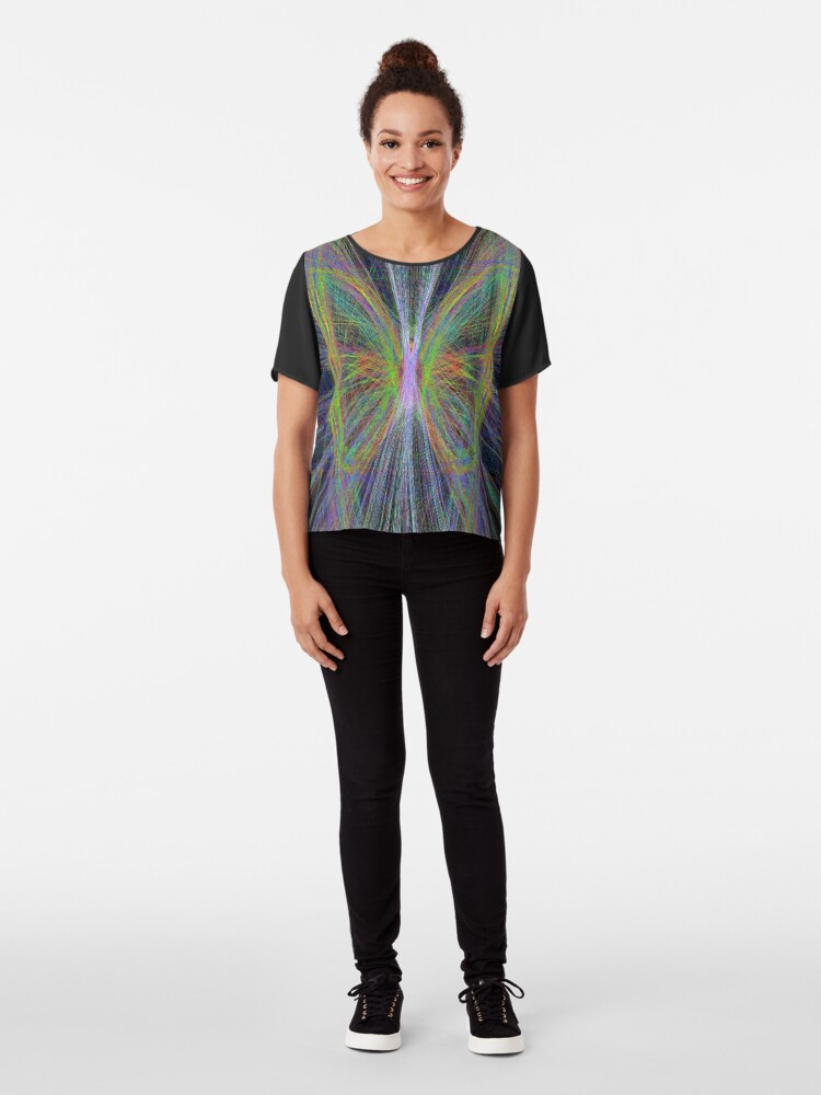 Alternate view of Linify Motley butterfly Chiffon Top