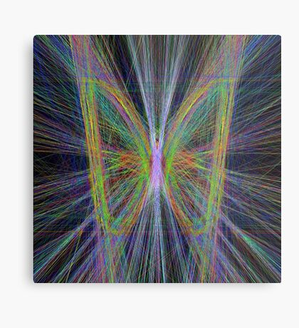 Linify Motley butterfly Metal Print