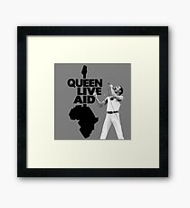 Queen Live Aid Framed Print