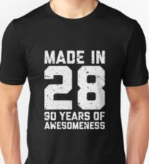 90th Birthday Gift Adult Age 90 Year Old Men Women Unisex T Shirt