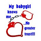My babygirl knows me. No greater trust!!! by Nyved-A-S