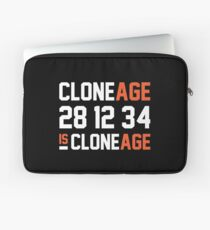 Cloneage Is Cloneage (Black Ver.) Laptop Sleeve