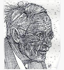 CARL JUNG - ink portrait Poster