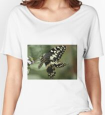 THE CITRUS SWALLOWTAIL- Papillio demodocus Women's Relaxed Fit T-Shirt