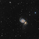 Whirlpool Galaxy in constellation Canes Venatici by Lukasz Szczepanski