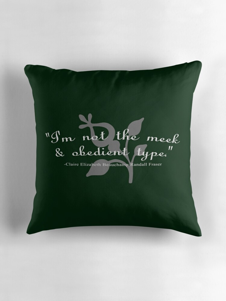 I 39 M Not The Meek Obedient Type Throw Pillows By