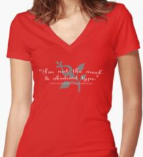 """""""I'm not the meek & obedient type."""" Women's Fitted V-Neck T-Shirt"""