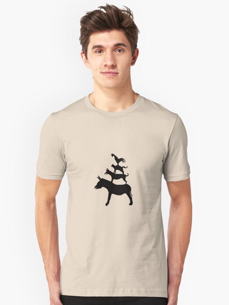 The Town Musicians of Bremen (Die Bremer Stadtmusikanten) - light tees Unisex T-Shirt Front