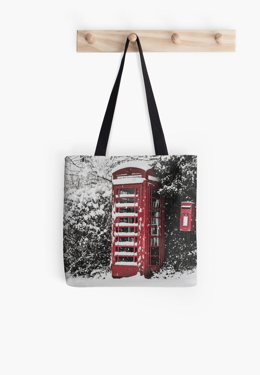 Wintery village Phone Box by Joatie