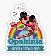 Opabinia - Cambrian crustacean cutie Sticker